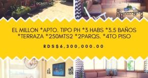 ID-7522 AMPLIO APTO TIPO PH EN VENTA – EL MILLÓN